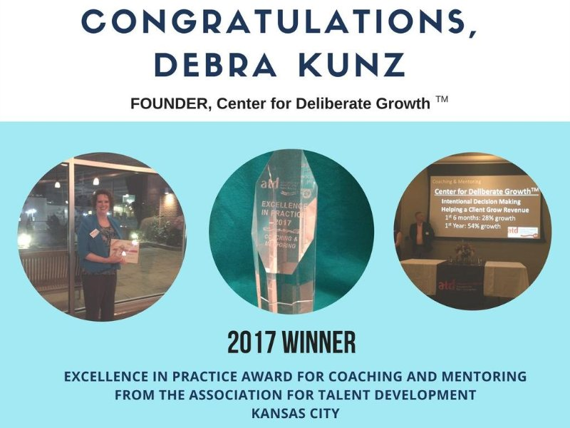 Debra Kunz Receives Excellence in Practice Award for Coaching and Mentoring from the Association for Talent Development